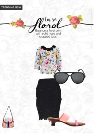 Black Skirts, Black Sunglasses with Pink Heels. Online shopping look by manjushananguluri@gmail.com
