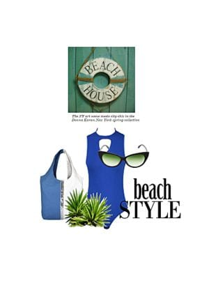 Blue Bikinis, Brown Sunglasses with Blue Handbags. Online shopping look by Gargi