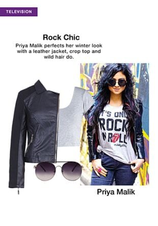 Grey Tops, Black Jackets with Black Sunglasses. Online shopping look by sheena