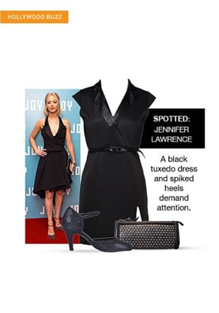 Black Dresses, Black Pumps with Black Clutches. Online shopping look by sheena