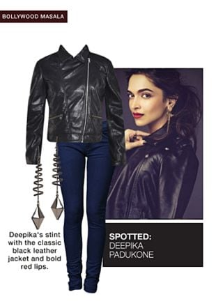 Black Jackets, Blue Jeans with Black Earrings. Online shopping look by pavani