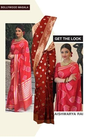 Red Sarees. Online shopping look by sheena