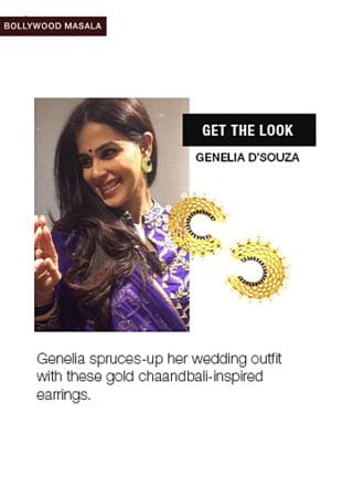 Gold Earrings. Online shopping look by Tani