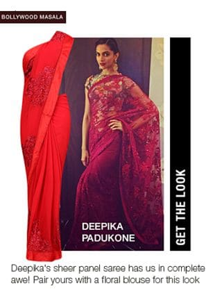 Red Sarees. Online shopping look by aarushi
