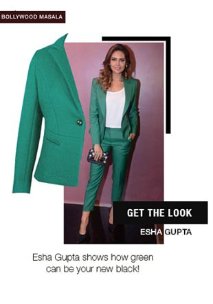 Green Blazers. Online shopping look by aarushi
