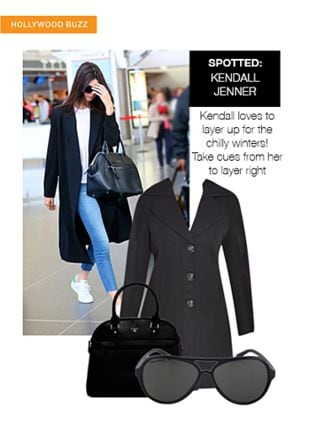 Black Blazers, Black Sunglasses with Black Handbags. Online shopping look by smriti