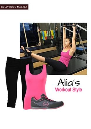 Pink Tees, Black Capris with Grey Sports Shoes. Online shopping look by monica