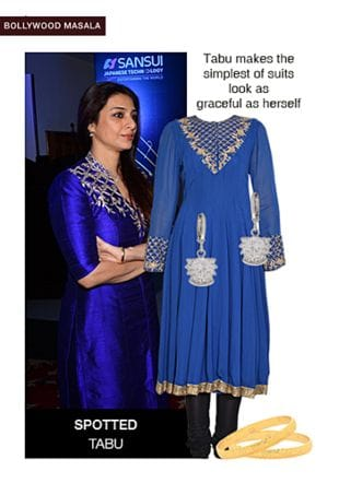Blue Kurtas, Silver Earrings with Gold Bangles. Online shopping look by sheena