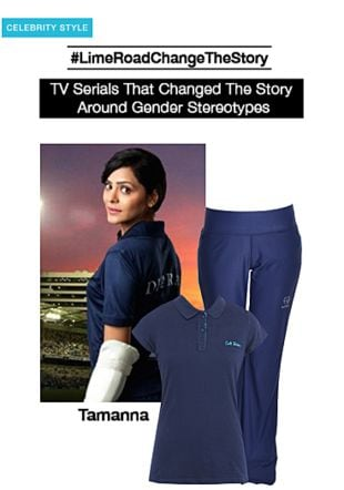 Blue Tees with Blue Track Pants. Online shopping look by smriti