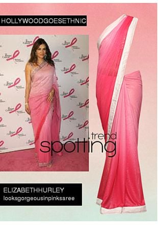 Pink Sarees. Online shopping look by Shweta