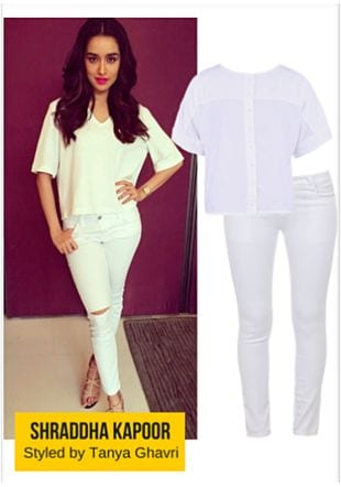 White Jeans with White Tops. Online shopping look by LimeRoad