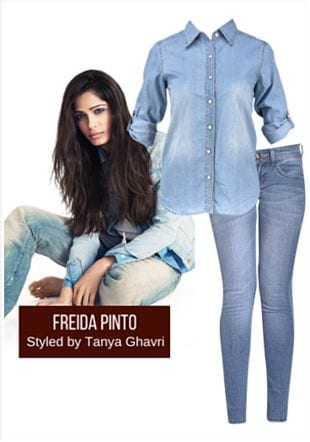 Blue Shirts with Blue Jeans. Online shopping look by LimeRoad