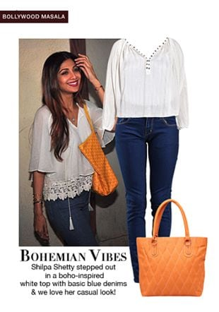 White Tops with Blue Jeans. Online shopping look by shilpi