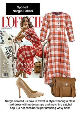 Brown Satchels, Beige Pumps with Multi Dresses. Online shopping look by Ojasvi