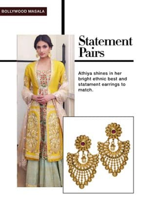 Gold Earrings. Online shopping look by smriti