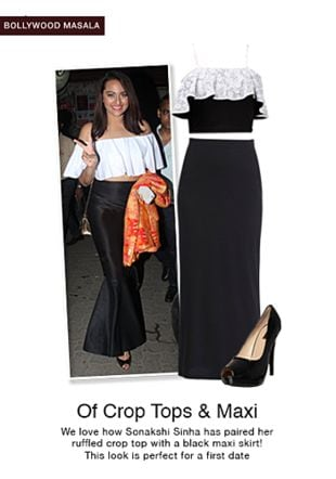 Black Skirts, Black Tops with Black Pumps. Online shopping look by jiya