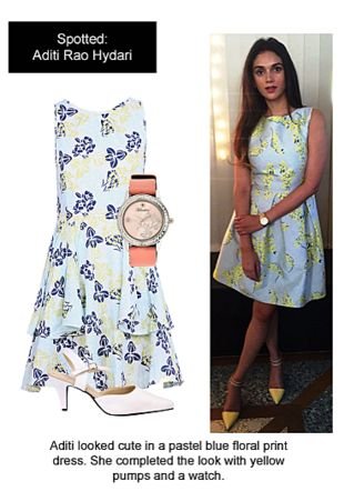 Blue Dresses, White Pumps with Others Watches. Online shopping look by Ojasvi