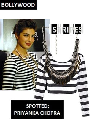 White Tops with Black Necklaces. Online shopping look by Shweta