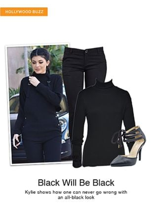 Black Tees, Black Pumps with Black Trousers. Online shopping look by smriti