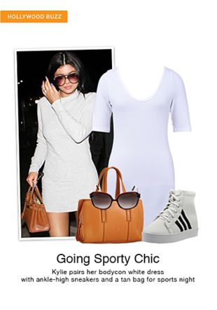 White Dresses, Brown Sunglasses, Brown Handbags with White Boots. Online shopping look by smriti