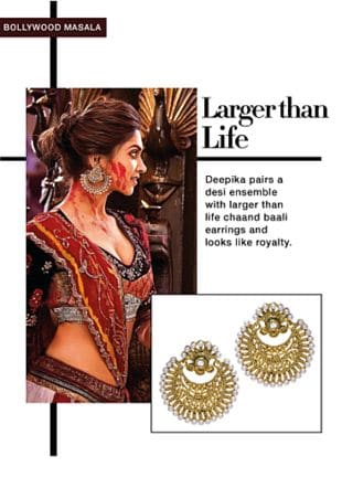 Gold Earrings. Online shopping look by Rina Walia S