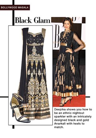 Black Unstitched Suits with Black Sandals. Online shopping look by Rina Walia S