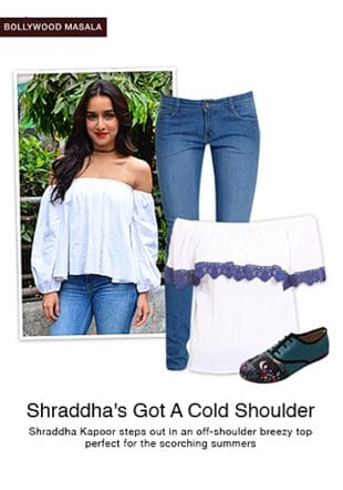 White Tops, Multi Sports Shoes & Sneakers with Blue Jeans. Online shopping look by sheena