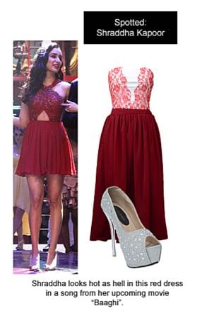 Red Dresses with Silver Pumps. Online shopping look by Ojasvi