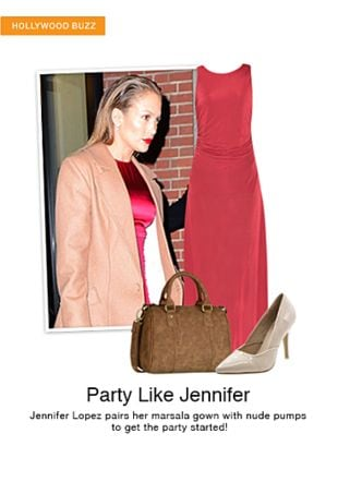 Red Dresses, Brown Handbags with Beige Pumps. Online shopping look by sheena