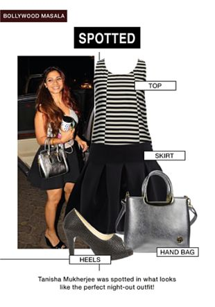 Black Tops, Black Skirts, Silver Handbags with Black Pumps. Online shopping look by gurkiran