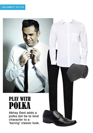 White Casual Shirts, Black Casual Trousers, Black Bow And Ties with Black Formal Shoes. Online shopping look by khushboo