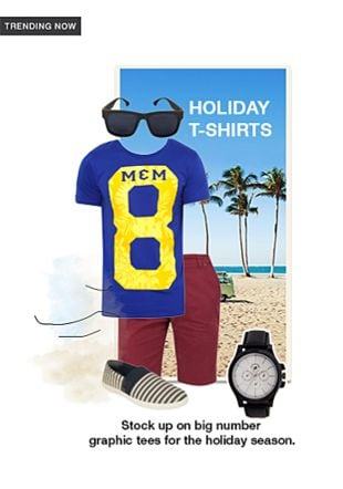 Blue T Shirts, Blue Loafers, Black Watches, Grey Sunglasses with Red Three   Fourths. Online shopping look by gurkiran