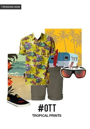 Black Sneakers, Grey Sunglasses, Others Shorts with Multi Casual Shirts. Online shopping look by gurkiran