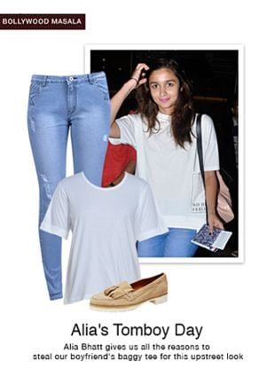 Beige Loafers & Mocassins, Blue Jeans with White Tees. Online shopping look by Tani