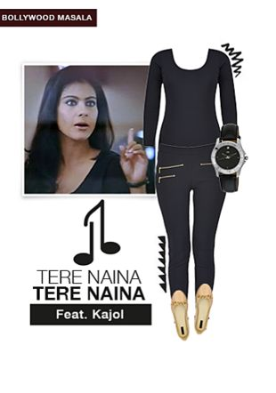 Black Jeggings, Nude Ballerina, Black Wrist Watches with Black Tops. Online shopping look by aarushi