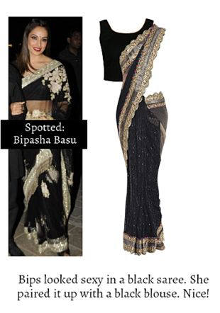 Black Sarees with Black Blouses. Online shopping look by Ojasvi