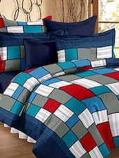 color block check double bedsheet -  online shopping for bed sheet sets