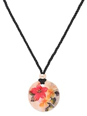 black,red,yellow,craem sea shell,silk dori necklace -  online shopping for Necklaces