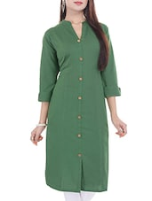 olive green cotton kurta -  online shopping for kurtas
