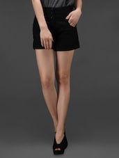 black Cotton Lycra  Shorts -  online shopping for Shorts