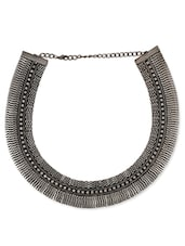 Metallic Metal Alloy Collars Necklace - By