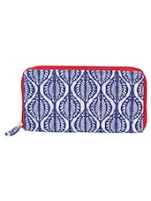 Blue-white Printed Wallet - By