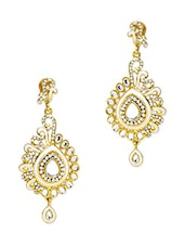Silver And Gold Glass Drop Earrings - By