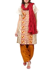 Maroon Cotton Plain  Dupatta - By