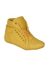 yellow canvas casual shoes -  online shopping for Casual Shoes