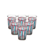 Red And Blue Painted Tea Glasses (Set Of 6) - By