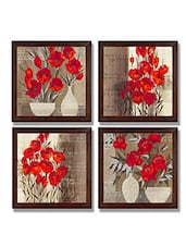 Ray Decor Wall Paintings Set Of 4 -SQSET525 - By