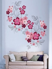 Flowers with Vine  vinyl sticker -  online shopping for Wall Decals & Stickers