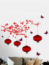 Lamps With Butterflies Wall Sticker -  online shopping for Wall Decals & Stickers