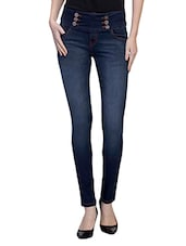 blue cotton jeggings -  online shopping for Jeggings